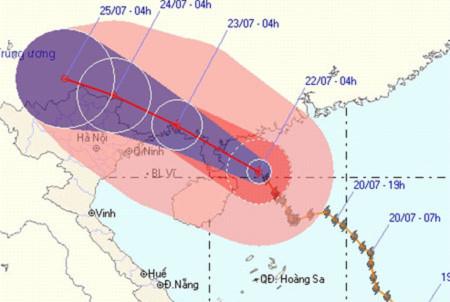 Bão Chanthu có thể gây ngập lụt và lũ quét tại Việt Nam