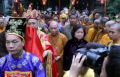 Hình ảnh lễ rước long vị 8 vị vua triều Lý về Thăng Long