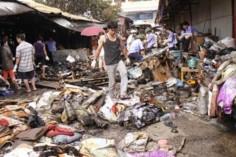 Khắc phục hậu quả cháy chợ Đông Kinh