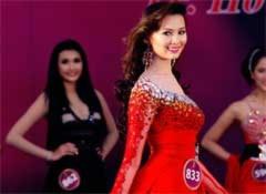 Ứng viên Hoa hậu lộng lẫy váy dạ hội