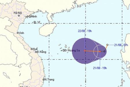 Áp thấp nhiệt đới trên biển Đông tiếp tục mạnh thêm