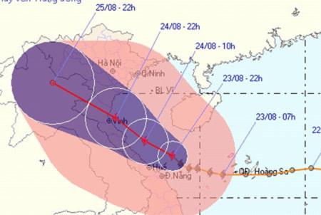 Bão số 3 tấn công miền Trung, Hà Nội mưa to những ngày tới