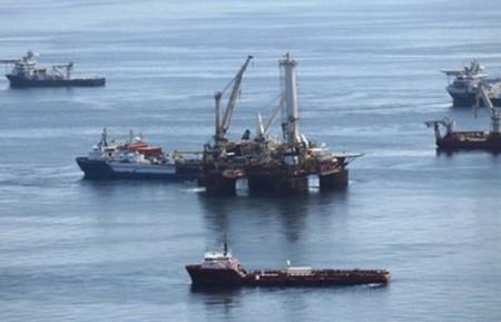 Dầu trên vịnh Mexico biến mất