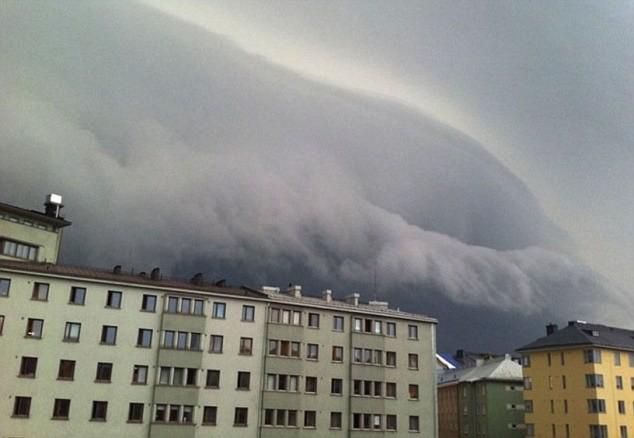 Hình ảnh giông bão do thiên nhiên gây ra tại Finland