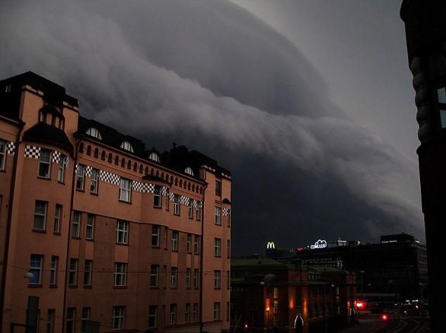 Hình ảnh mẹ thiên nhiên trút giận xuống Phần Lan