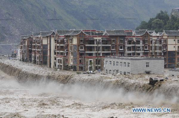 Lại lũ lụt và lở đất ở Trung Quốc, 38 người mất tích