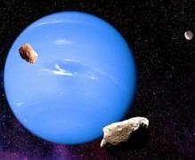 Mặt trời, trái đất, sao Hải Vương xếp thành hàng