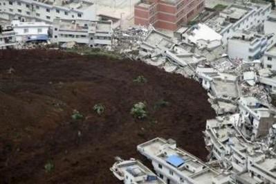 Những hình ảnh lở đất kinh hoàng ở Trung Quốc