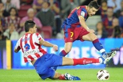 Barca vất vả đánh bại Sporting Gijon