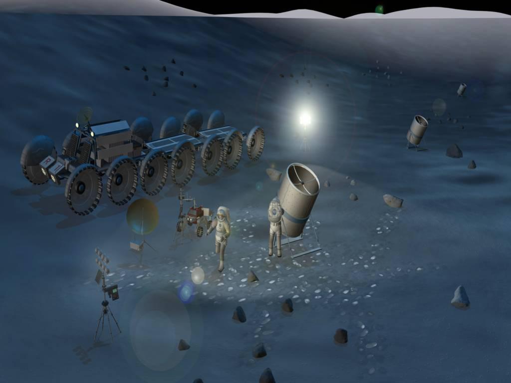 Nước trên Mặt trăng làm sai lệch kính viễn vọng.