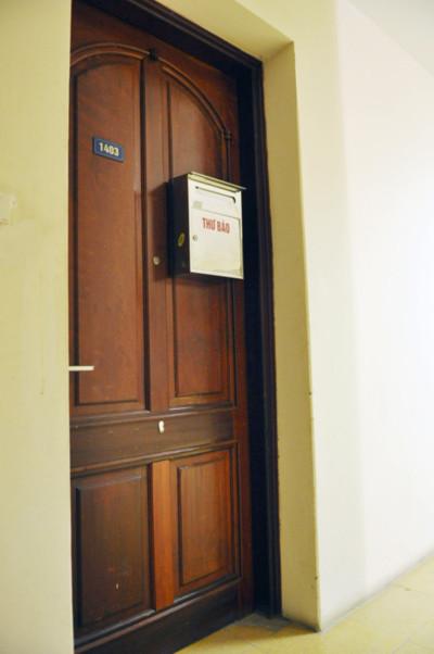 Căn hộ chung cư của ông Nghiêm bị Cơ quan an ninh điều tra khám xét. Ảnh: Quang Xuân.