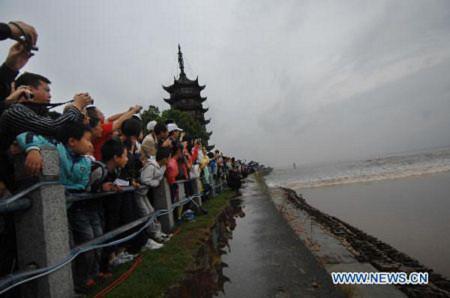 Thủy triều tuyệt đẹp trên sông Tiền Đường, Tin tức trong ngày, thuy trieu, hung vi, song, Tien Duong, Trung Quoc