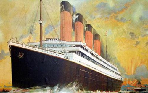 Bức tranh con tàu Titanic được vẽ cách đây 100 năm