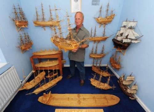 10 năm làm thuyền bằng… que diêm