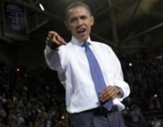 Tổng thống Barack Obama trong cuộc nói chuyện tại đại học Washington, vận động bầu cử cho thượng nghị sĩ Patty Murray. Ảnh: AFP.