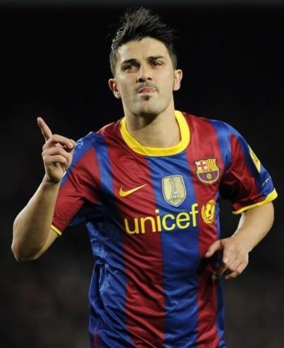 Villa tỏa sáng trong chiến thắng của Barcelona. Ảnh: AP
