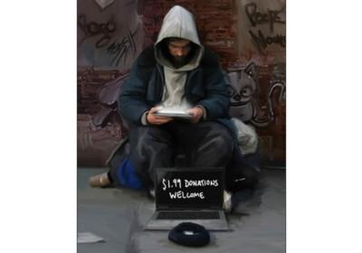 Câu chuyện của một người vô gia cư dùng iPad.