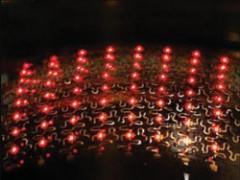 Hình ảnh một dãy LED do nhóm nghiên cứu của Rogers chế tạo - Ảnh: Physorg
