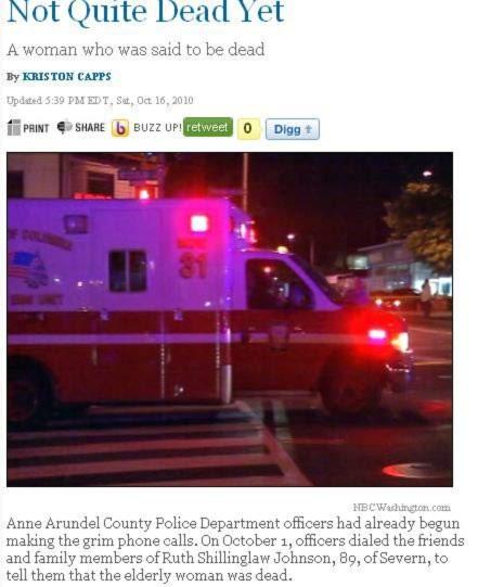 Thông tin được đăng trên trang NBC Washington