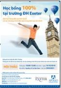 Học bổng 100% tại Exeter - ĐH hàng đầu Anh quốc về đào tạo tài chính