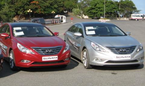 Sonata, một trong những mẫu xe nhập khẩu đắt hàng của Hyundai Thành Công. ảnh HT