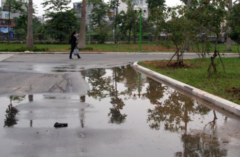 Sau cơn mưa, những vũng nước này xuất hiện khá nhiều.