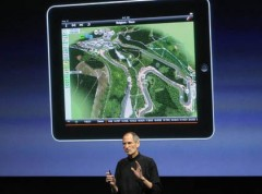 Steve Jobs trong một buổi hội thảo về ứng dụng cho iPad