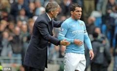 Tevez và Mancini gây nhau trong phòng thay đồ