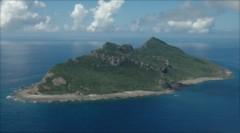 Một trong số 8 hòn đảo không có người ở thuộc nhóm đảo Senkaku/Điếu Ngư . Ảnh: AP
