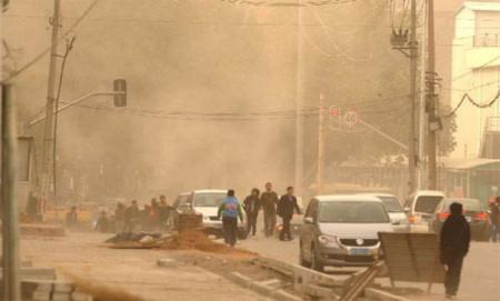 Bão cát tấn công Trung Quốc