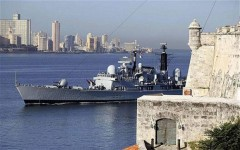 Chiếm hạm Anh đầu tiên cập cảng Cuba trong nửa thế kỷ