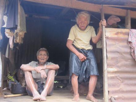 Cụ bà hơn 100 tuổi còng lưng san đường, nhổ cỏ không công