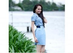 Diễm Hương xinh tươi giữa sông nước