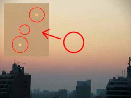 Hai nguồn sáng lạ xuất hiện ở Nhật