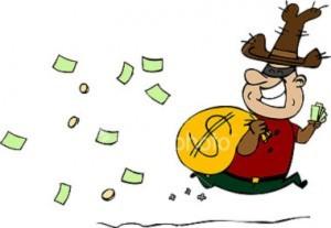 Đi cướp nhà băng, làm rơi ví tiền