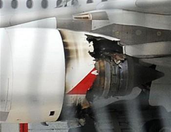 Nghi vấn tro bụi núi lửa làm cháy động cơ A380