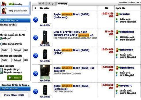 Nhộn nhịp tìm mua iPhone 4 trên mạng