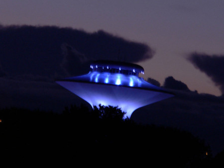 Hình minh họa UFO tại thành phố Centreville trên báo Gather tại bang Virginia, Mỹ. Ảnh: gather.com.