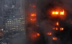 Thượng Hải: Chung cư cao tầng chìm trong biển lửa