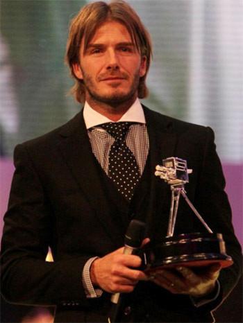 Beckham nhận giải thưởng 'Thành tựu trọn đời'