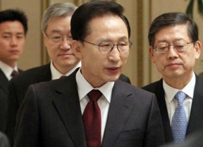 Tổng thống Hàn Quốc Lee Myung-bak. Ảnh: AFP
