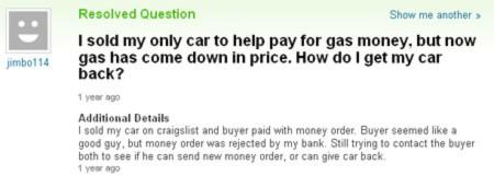 Những câu hỏi buồn cười nhất trên Yahoo Answers