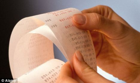 Phát hiện chất gây ung thư trong giấy in hóa đơn