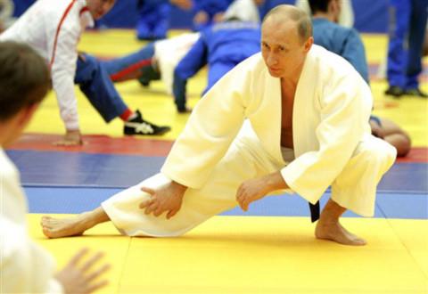 Putin tập võ judo
