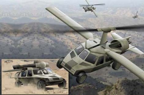 """""""Ô tô bay"""" Transformer có thể di chuyển trong quãng đường dài khoảng 450 km cả trên mặt đất và trên không. Ảnh: Daily Mail."""