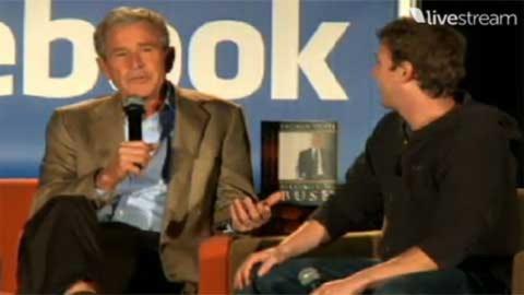 """Tò mò chuyện """"chat"""" giữa Bush và ông trùm Facebook"""