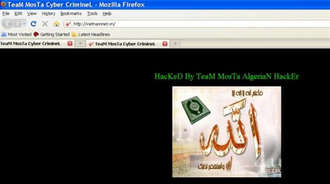 Ảnh chụp màn hình báo điện tử VietNamNet lúc 3h sáng ngày 22/11/2010.