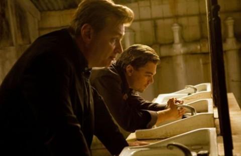 Đạo diễn Christopher Nolan và diễn viên chính Leonardo DiCaprio của Inception.