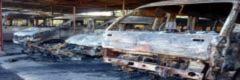 8 ôtô bị lửa thiêu rụi trong đêm