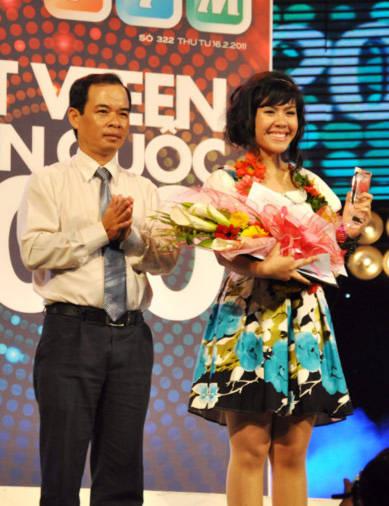 Trần Hồng Ngọc đạt giải hot vteen do khán giả bình chọn